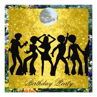 Fiesta de cumpleaños de los años 70 del disco 2 invitación 13,3 cm x 13,3cm