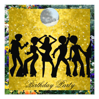 Fiesta de cumpleaños de los años 70 del disco 2 re invitaciones personalizada