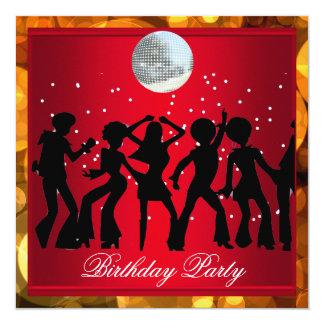 Fiesta de cumpleaños de los años 70 del disco 3 invitación 13,3 cm x 13,3cm