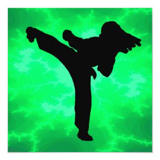 Fiesta de cumpleaños de los chicas del Taekwondo Invitación 13,3 Cm X 13,3cm