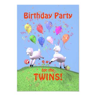 Fiesta de cumpleaños de los corderos para los invitación 12,7 x 17,8 cm