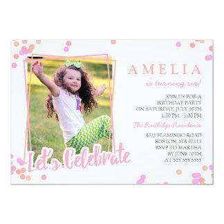 Fiesta de cumpleaños de los niños de la foto del invitación 12,7 x 17,8 cm