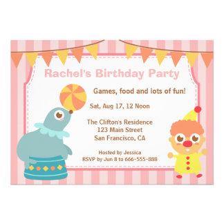 Fiesta de cumpleaños de los niños - payaso y león  anuncios personalizados