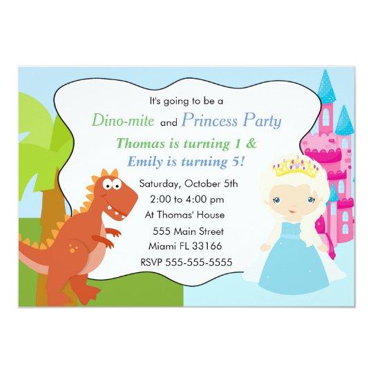 Fiesta de cumpleaños de princesa Invitation Kids Invitación 12,7 X 17,8 Cm