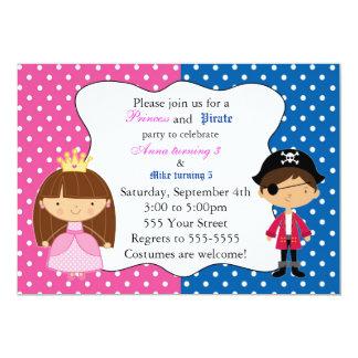 Fiesta de cumpleaños de princesa Pirate Invitation Invitación 12,7 X 17,8 Cm