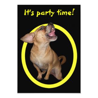 Fiesta de cumpleaños de Puggle del baile Anuncio Personalizado