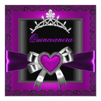 Fiesta de cumpleaños de Quinceanera de la tiara Comunicado
