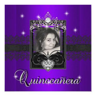Fiesta de cumpleaños de Quinceanera del brillo Invitación 13,3 Cm X 13,3cm