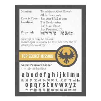 Fiesta de cumpleaños del agente secreto de la cont