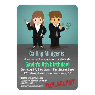 Fiesta de cumpleaños del agente secreto de los anuncios