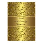 Fiesta de cumpleaños del aniversario del oro del anuncio personalizado