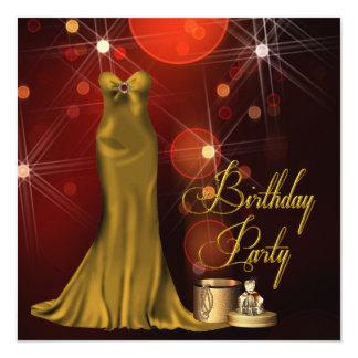 Fiesta de cumpleaños del art déco de la mujer invitaciones personalizada