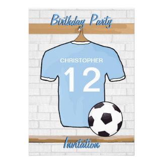 Fiesta de cumpleaños del azul y del blanco de ciel invitaciones personales