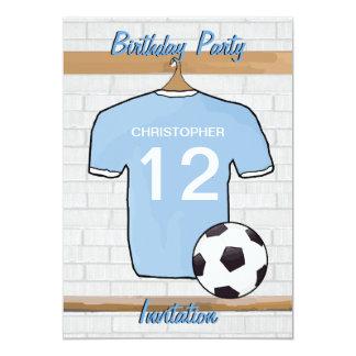 Fiesta de cumpleaños del azul y del blanco de invitación 12,7 x 17,8 cm