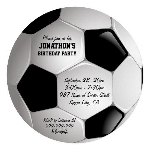 Fiesta de cumpleaños del balón de fútbol del fútbo comunicado personal