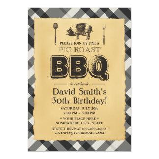 Fiesta de cumpleaños del Bbq de la carne asada del Invitación 12,7 X 17,8 Cm