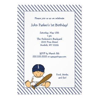 Fiesta de cumpleaños del béisbol blanco de los azu