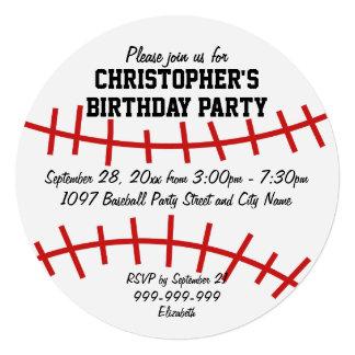 Fiesta de cumpleaños del béisbol invitacion personal