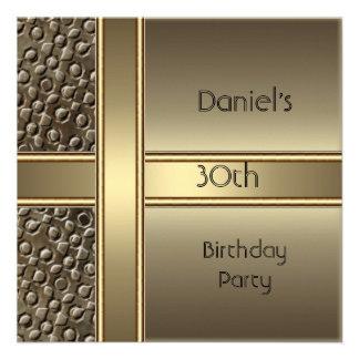 Fiesta de cumpleaños del bronce del metal trigésim invitacion personalizada
