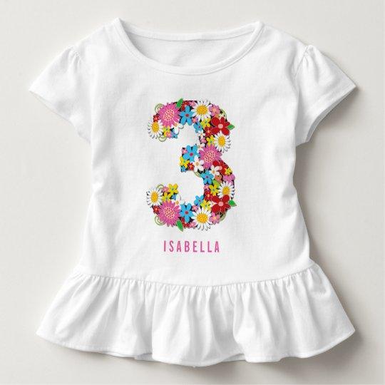 Fiesta de cumpleaños del chica del rosa de jardín camiseta de bebé