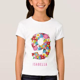 Fiesta de cumpleaños del chica lindo del jardín de camiseta