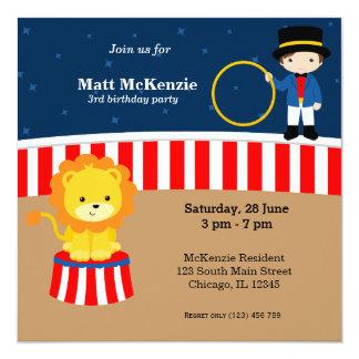 Fiesta de cumpleaños del circo invitación personalizada
