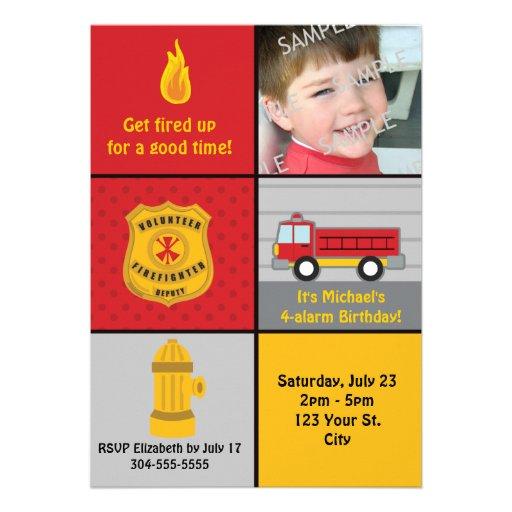 Fiesta de cumpleaños del coche de bomberos comunicados