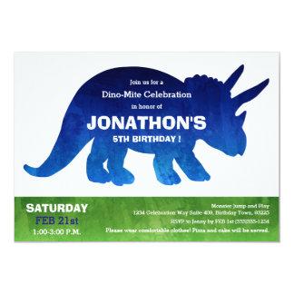 Fiesta de cumpleaños del dinosaurio del invitación 12,7 x 17,8 cm