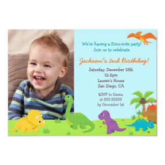 Fiesta de cumpleaños del dinosaurio Invitaions Invitación 12,7 X 17,8 Cm