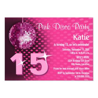 Fiesta de cumpleaños del disco del chica invitación 12,7 x 17,8 cm
