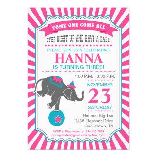 Fiesta de cumpleaños del elefante del circo