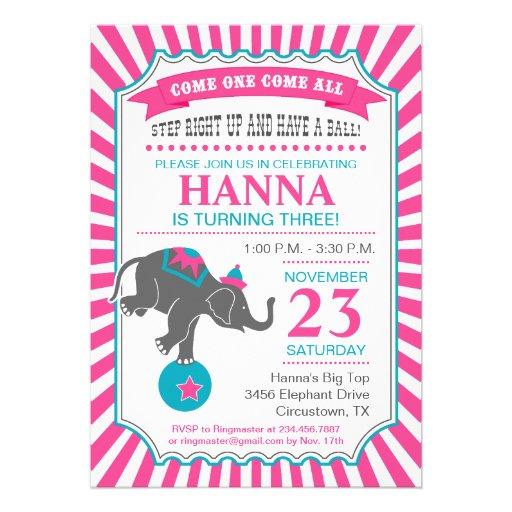 Fiesta de cumpleaños del elefante del circo comunicado