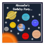 Fiesta de cumpleaños del espacio exterior de la invitación 13,3 cm x 13,3cm