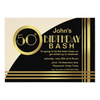 Fiesta de cumpleaños del estilo de los años 20 de invitación 12,7 x 17,8 cm