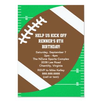Fiesta de cumpleaños del fútbol de los deportes invitación 11,4 x 15,8 cm