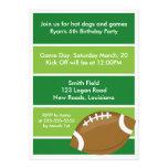 Fiesta de cumpleaños del fútbol anuncios personalizados