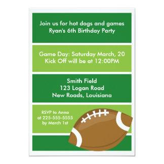 Fiesta de cumpleaños del fútbol invitación 12,7 x 17,8 cm