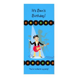 Fiesta de cumpleaños del muchacho de la estrella invitación 10,1 x 23,5 cm