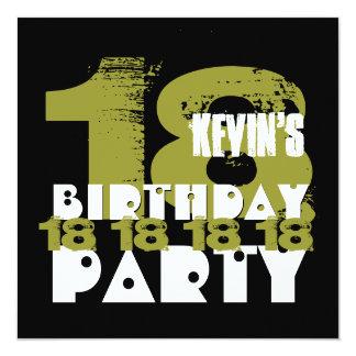 Fiesta de cumpleaños del NEGRO de la ARCILLA Invitación 13,3 Cm X 13,3cm