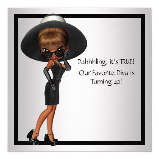 Fiesta de cumpleaños del negro de la mujer preferi comunicados personales