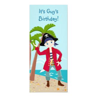Fiesta de cumpleaños del niño del pirata invitación 10,1 x 23,5 cm