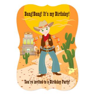 Fiesta de cumpleaños del niño del vaquero