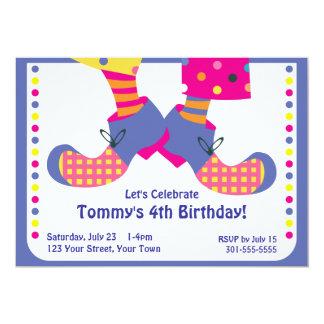 Fiesta de cumpleaños del payaso de circo invitaciones personales