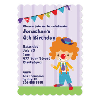 Fiesta de cumpleaños del payaso de circo comunicados