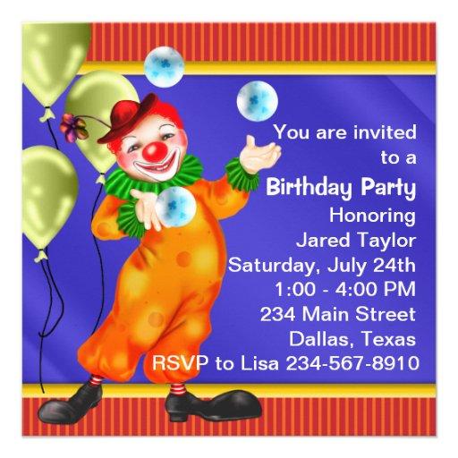 Fiesta de cumpleaños del payaso de circo anuncio