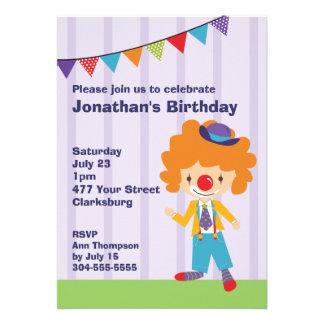 Fiesta de cumpleaños del payaso de circo