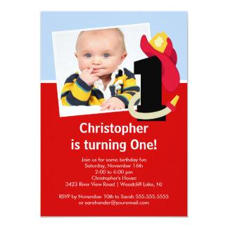 Fiesta de cumpleaños del pequeño muchacho del invitación 12,7 x 17,8 cm