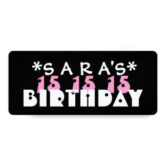 Fiesta de cumpleaños del personalizado de la invitación 10,1 x 23,5 cm