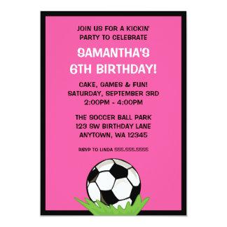 Fiesta de cumpleaños del rosa del chica del balón invitación 12,7 x 17,8 cm