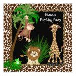 Fiesta de cumpleaños del safari de selva de los anuncios personalizados